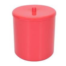 Lixeira de Banheiro Plástico Rosa 6L Tampa