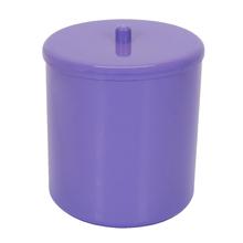 Lixeira de Banheiro Plástico Roxo 6L Tampa