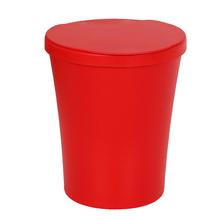 Lixeira de Banheiro Plástico Vermelho 5L Manual