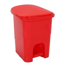 Lixeira de Banheiro Plástico Vermelho 6L Pedal Primafer