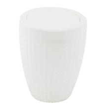 Lixeira de Banheiro Rattan Branca 6L Aquaplás