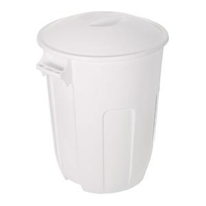 Lixeira Externa Plástico Branco 60,50x44,30x50,50cm Manual