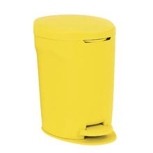 Lixeira Multiuso Amarela 12L Pedal Delinia