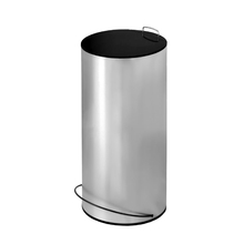 Lixeira Multiuso Inox Cinza 25L Ghel Plus