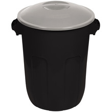 Lixeira Multiuso Plástico Preta 62L Manual Plasutil