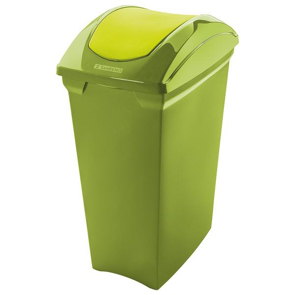 Lixeira multiuso pl stico verde 15l basculante sanremo for Mobiletti multiuso leroy merlin