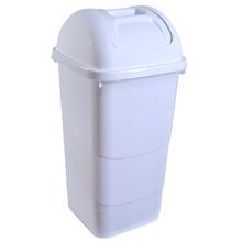 Lixeira Multiuso Polipropileno Branca 60L Basculante Gioplast