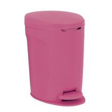 Lixeira Multiuso Rosa 12L Pedal Delinia