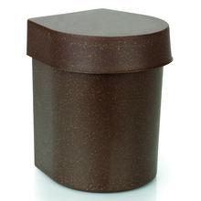 Lixeira para Pia de Cozinha com tampa Fibra de Madeira 3,5L Madeira 20,5cm x 16,5cm x 20,5cm  Eco Martiplast