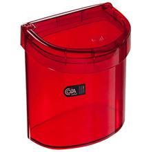 Lixeira para Pia de Cozinha com Tampa Poliestireno 2,7L Vermelho Transparente 20,8cm x 14,3cm x 20,1cm 20932/0111 Brinox