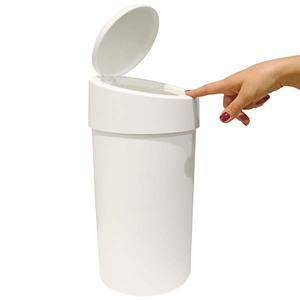 Lixeira para Pia de Cozinha com Tampa Plástico 9L Branco 39,5cm x 20cm x 20cm 10909/0007 Brinox