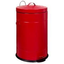 Lixeira para escritório Aço Vermelho  Pedal Importado