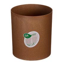 Lixeira para escritório Plástico Marrom 21,50x19,30x19,30cm sem Tampa Coza