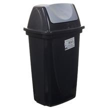 Lixeira para escritório Plástico Preto 39,80x18,50x23cm Basculante Plasútil