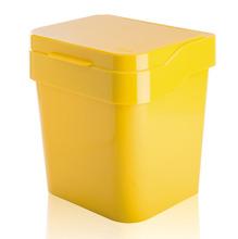 Lixeira para Pia de Cozinha Acrílico Amarelo 3L Manual Martiplast