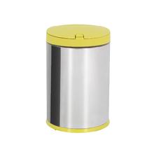 Lixeira para Pia de Cozinha Plástico 4L Amarela Neutral