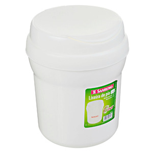 Lixeira para Pia de Cozinha Plástico Branco 2,4L Manual