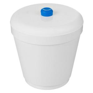 Lixeira para Pia de Cozinha Plástico Branco 2,5L Manual