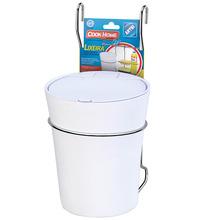 Lixeira para Pia de Cozinha Plástico Branco Manual Arthi