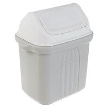 Lixeira para Pia de Cozinha Plástico Cinza 6,5L Basculante