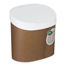 Lixeira para Pia de Cozinha Plástico Madeira 4L Manual