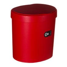 Lixeira para Pia de Cozinha Plástico Vermelho 2,5L Manual