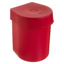 Lixeira para Pia de Cozinha Plástico Vermelho 3,5L Manual