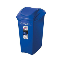 Lixeira Seletiva Azul Papel 40L Sanremo