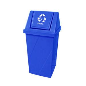 Lixeira Seletiva com Tampa Basculante Externo Plástico 65L Azul 81,5cm x 40,5cm Fibralix