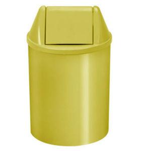 Lixeira Seletiva com Tampa Basculante Interno Plástico 11L Amarelo 37,5cm VF