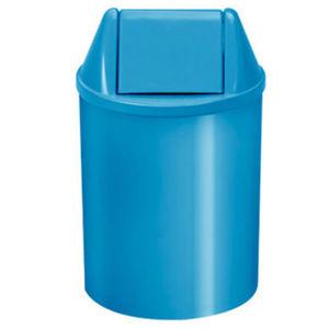 Lixeira Seletiva com Tampa Basculante Interno Plástico 11L Azul 37,5cm VF