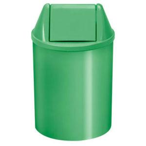Lixeira Seletiva com Tampa Basculante Interno Plástico 11L Verde 37,5cm VF