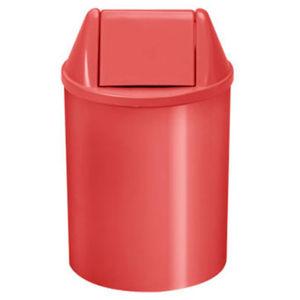 Lixeira Seletiva com Tampa Basculante Interno Plástico 11L Vermelho 37,5cm VF