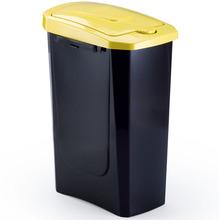 Lixeira Seletiva Plástico Amarela 15 L Manual Arthi