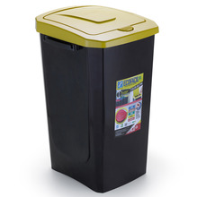 Lixeira Seletiva Plástico Amarela 30 L Manual Arthi