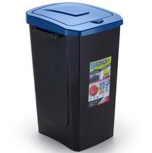 Lixeira Seletiva Plástico Azul 30 L Manual Arthi