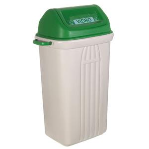 Lixeira Seletiva Plástico Verde 74x31,30x41cm Basculante