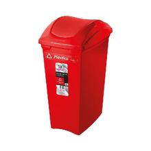 Lixeira Seletiva Vermelho Plástico 40L Sanremo