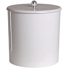 Lixeira Útil Cinza Claro para Banheiro 20 x 20cm - 6,2 litros
