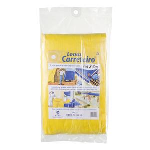 Lona Carreteiro 4X3 Amarelo Plasitap