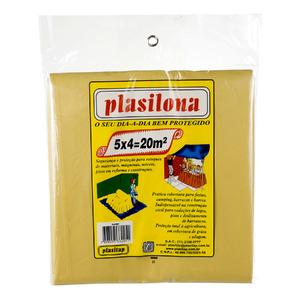 Lona Plástica 5X4 Amarelo Plasitap
