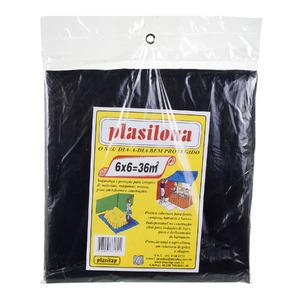 Lona Plástica 6X6 Preto Plasitap