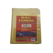 Lona Plástica Amarela 2x5 Brasil Bag