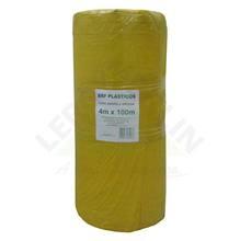 Lona Plástica Amarela 4,00m Largura 120 Micras Brf Lonas