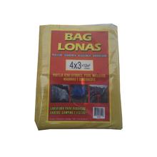 Lona Plástica Amarela 4x3 Brasil Bag