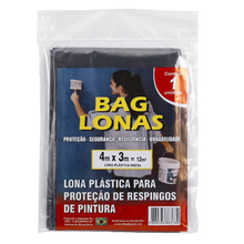 Lona Plástica Preta 4x3m Brasil Bag