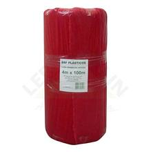 Lona Plástica Vermelha 4,00m Largura 120 Micras Brf Lonas