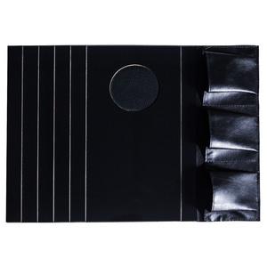Lugar Americano para Sofá com Porta Copo e Controle Preto 30x40cm