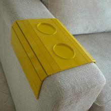 Lugar Americano para Sofá com Porta Copos Amarelo 23x35cm