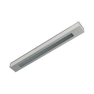 Luminária Retangular 2 Lâmp. T8 Bivolt Escovado Pantoja